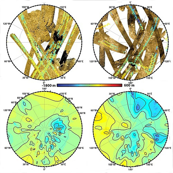 топографическая карта Титана