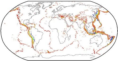 Атлас с 20 тысячами землетрясений