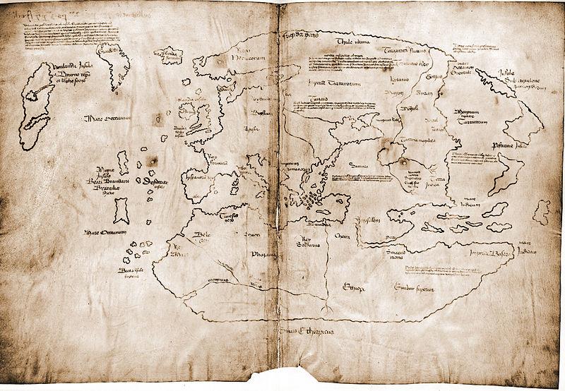 Карта Винланда  якобы является документов 15 века, основанном на еще более ранней карте