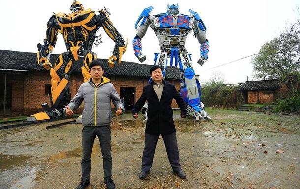 1596247 Китайцы делают из старых машин гигантских трансформеров
