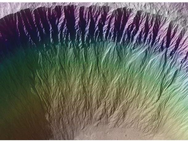 1808257 Вода на Марсе кипит и испаряется