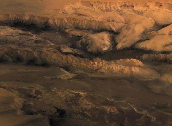214 Каналы на Марсе образовала лава, а не вода?