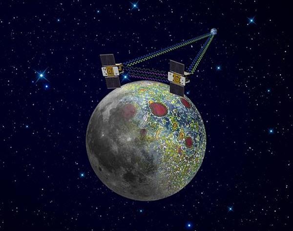 223 Два одинаковых зонда будут наблюдать за гравитацией Луны
