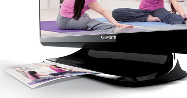 532 Телевизор Skyworth Memory Share обладает функцией принтера
