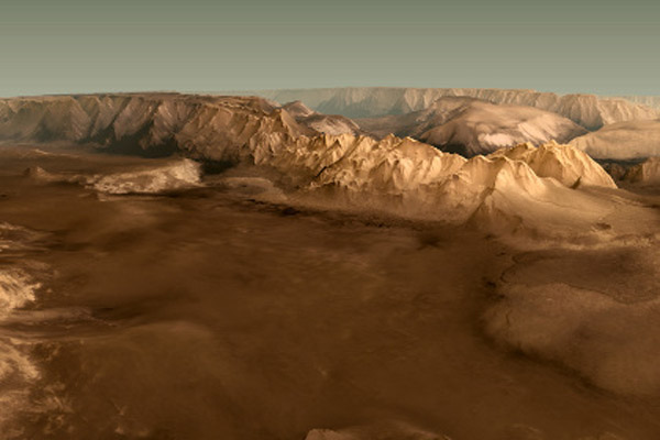 715 Представлена трехмерная карта Марса