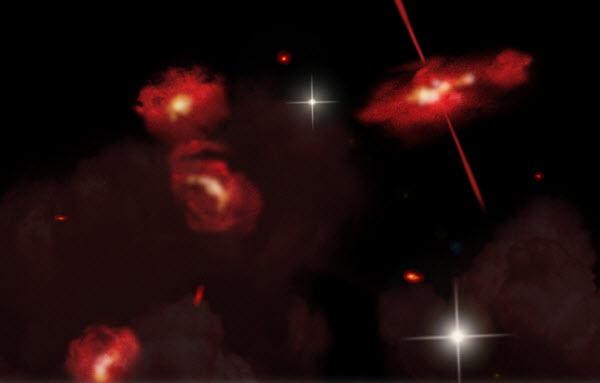971 Необычные «красные» галактики