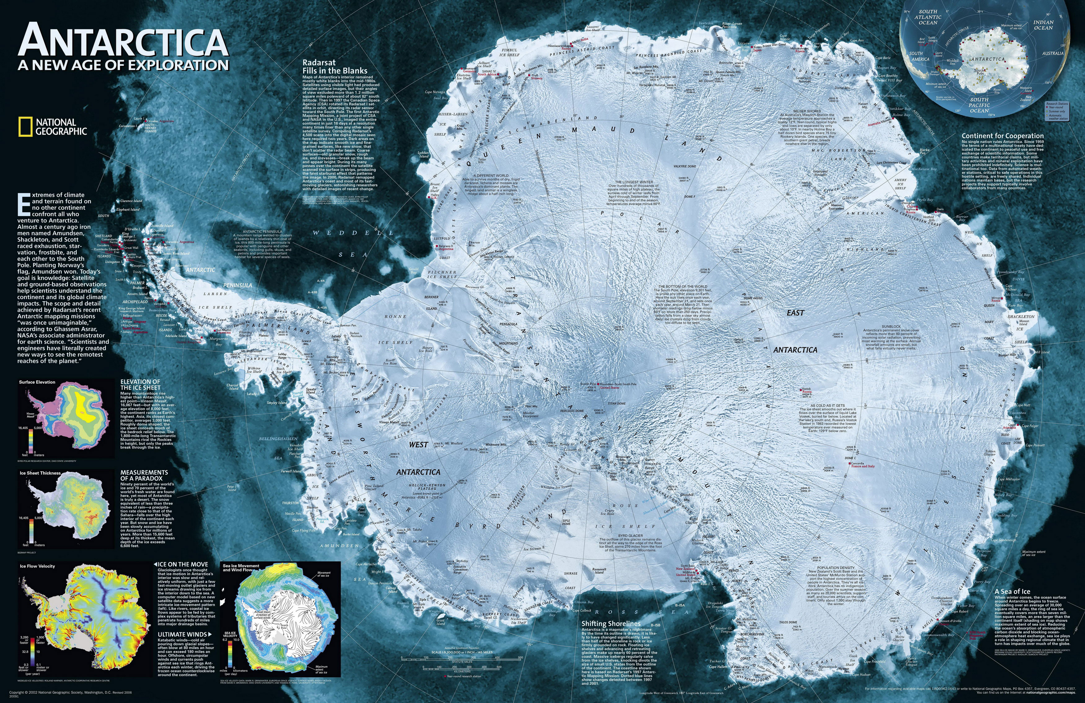 antarctica-map-ng Таящие ледники в Западной Антарктиде повысят уровень Мирового океана на 4,5 метра
