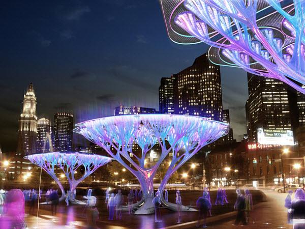 boston-treepods Искусственные деревья - почти как настоящие!