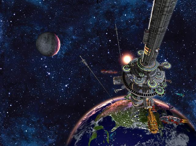 elevador-espacial Японцы собираются к 2050 году построить первый космический лифт