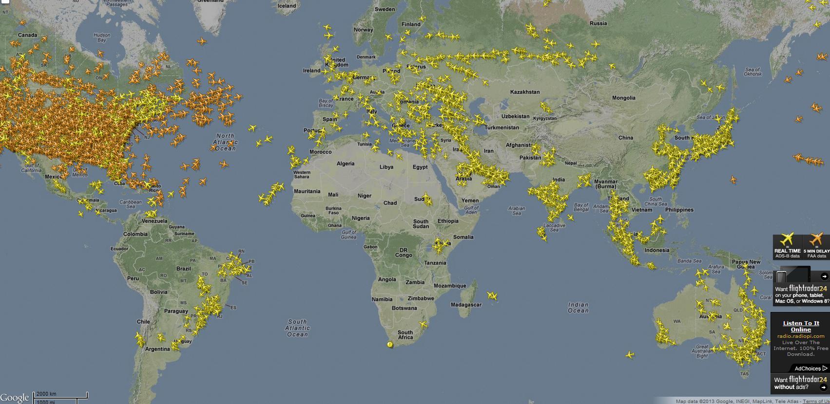 flightradar24 Из-за крушения Boeing 777 выросла популярность сервиса Flightradar24