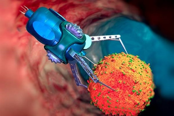 nanoroboty Медики будут использовать микророботов для доставки лекарств к пораженным органам