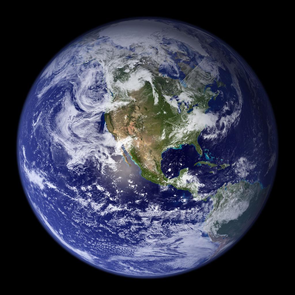 nasa_earth_america_2010 В недрах Земли найдены гигантские залежи воды