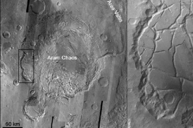 Ученые разобрались в природе древнего марсианского наводнения