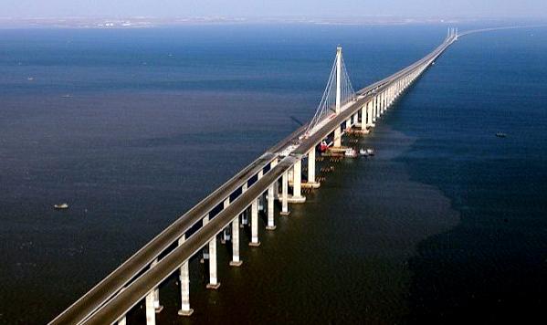 qingdao-haiwan-bridge Мост над бухтой Цзяочжоу – самый длинный в мире