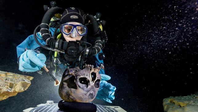 underwatercaveskeleton01_m_0515 На Юкатане обнаружены древнейшие останки человека